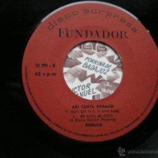 Discos de vinilo: EP FUNDADOR ASI CANTA ROSALIA VER FOTOS TITULOS 1970. Lote 49760650
