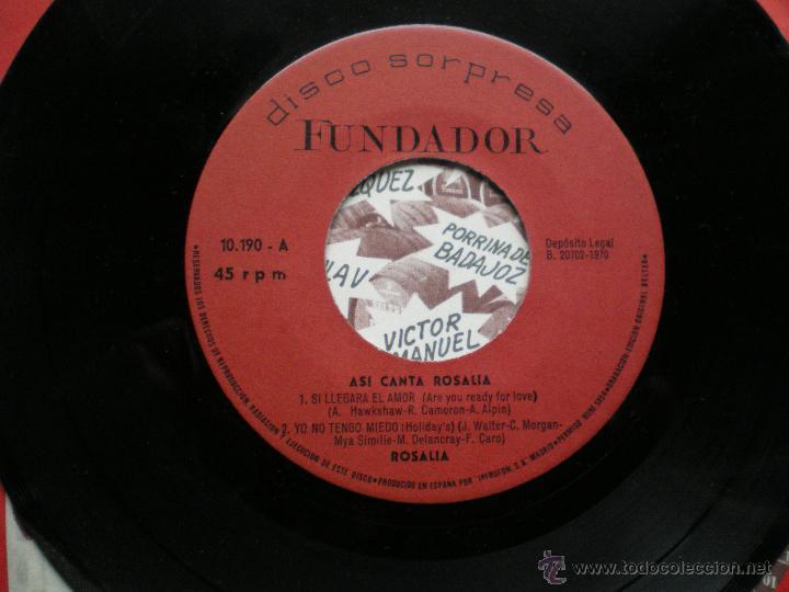 Discos de vinilo: EP FUNDADOR ASI CANTA ROSALIA VER FOTOS TITULOS 1970 - Foto 2 - 49760650