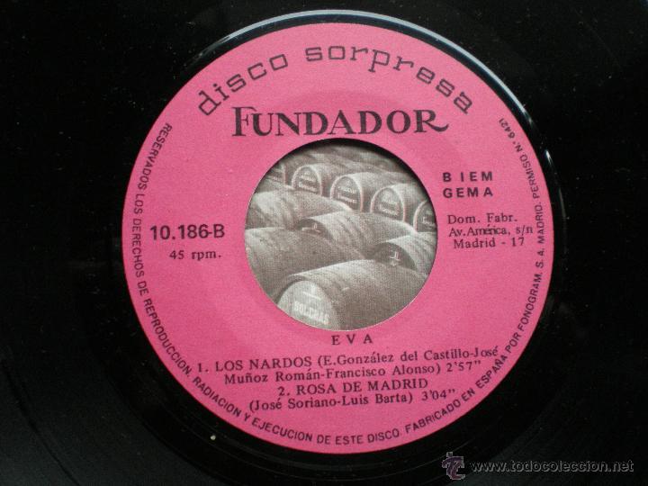 EP FUNDADOR EVA VER FOTOS TITULOS 1969 (Música - Discos de Vinilo - EPs - Solistas Españoles de los 70 a la actualidad)