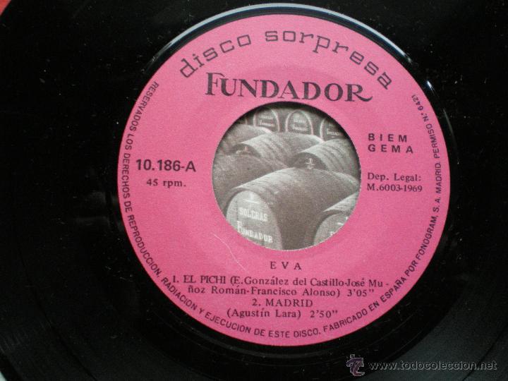 Discos de vinilo: EP FUNDADOR EVA VER FOTOS TITULOS 1969 - Foto 2 - 49760684