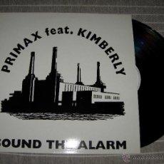Discos de vinilo: PRIMAX FT. KIMBERLY - SOUND THE ALARM / RCA 1994 NUEVO. Lote 49769536