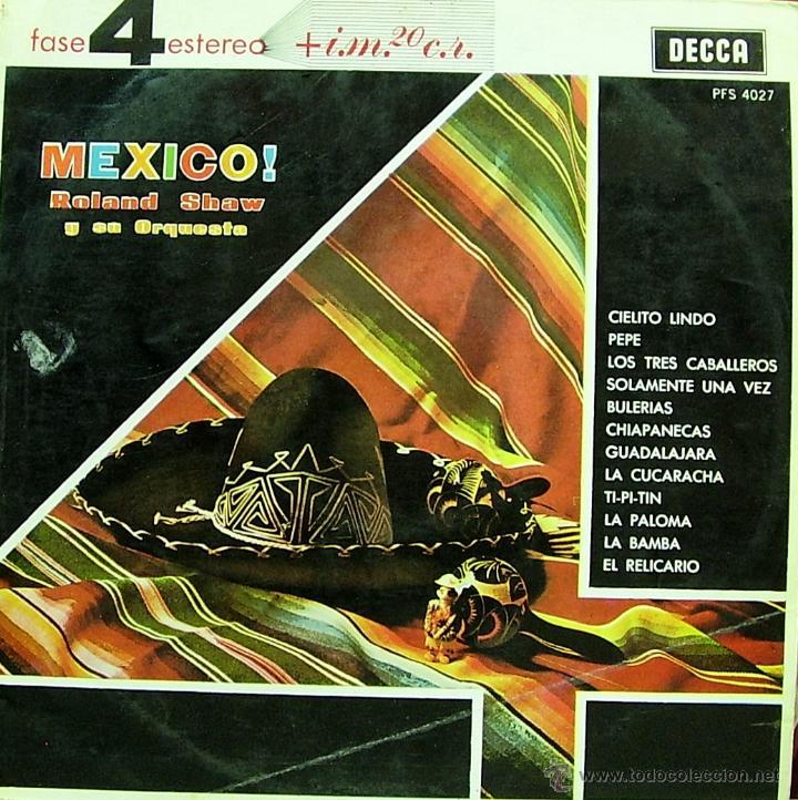 ROLAND SHAW Y SU ORQUESTA-MEXICO LP VINILO 1963 SPAIN (Música - Discos - LP Vinilo - Orquestas)
