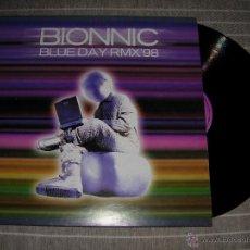 Discos de vinilo: BIONNIC - BLUE DAY RMX'98 / BOY RECORDS 1998 NUEVO. Lote 118494011