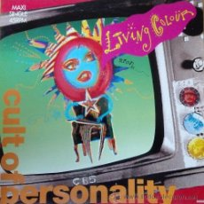 Discos de vinilo: LIVING COLOUR - CULT OF PERSONALITY - 12 PULGADAS MAXI SINGLE 45 RPM ESPAÑOL. Lote 49773231