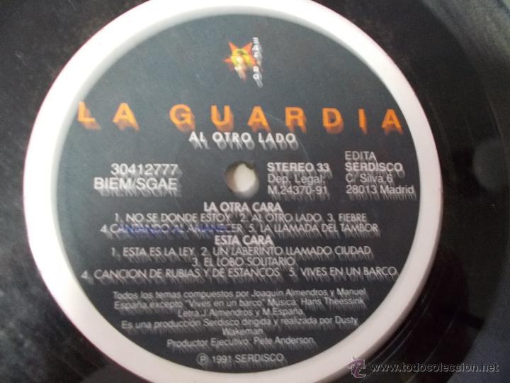 Discos de vinilo: LA GUARDIA. AL OTRO LADO. - Foto 2 - 49775247