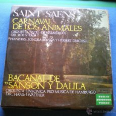 Discos de vinilo: LP ORQUESTRA BACH DE HAMBURGO, DIR. ROB STEHLI, CARNAVAL DE LOS ANIMALES PEPETO. Lote 49775891