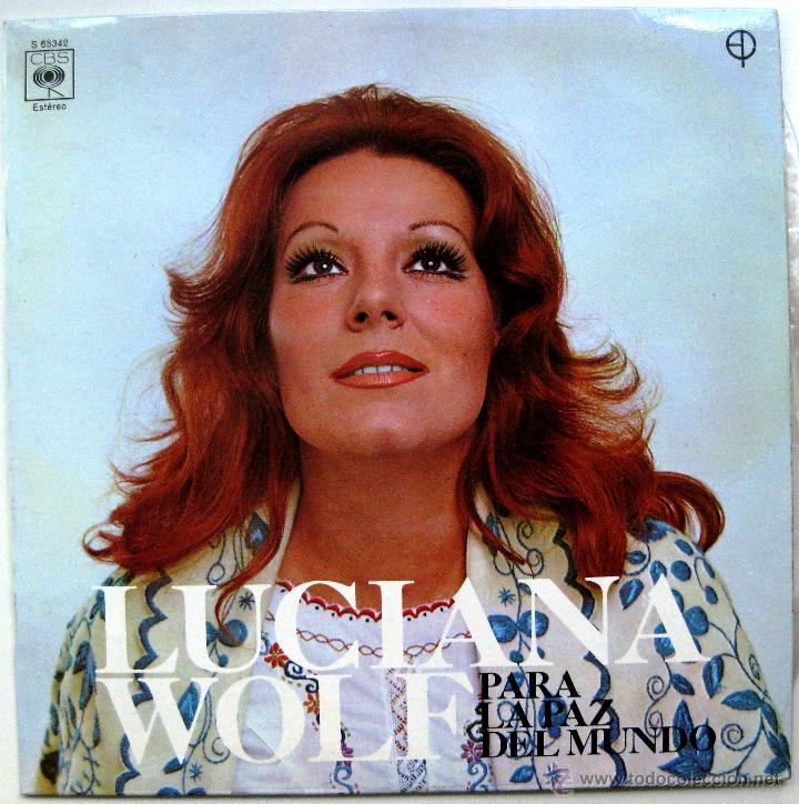 LUCIANA WOLF - PARA LA PAZ DEL MUNDO - LP CBS 1972 BPY (Música - Discos - LP Vinilo - Solistas Españoles de los 70 a la actualidad)