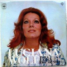 Discos de vinilo: LUCIANA WOLF - PARA LA PAZ DEL MUNDO - LP CBS 1972 BPY. Lote 49777356