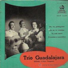 Disques de vinyle: TRIO GUADALAJARA EP ODEON 195? NO NO PORTUGUESA/ ESO NO VA CONTIGO/ YA ESTA SUAVE +1 GUARACHA MAMBO. Lote 49783502
