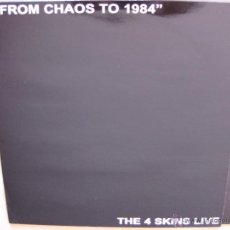Discos de vinilo: THE 4 SKINS: LIVE - FROM CHAOS TO 1984 / COCKNEY REJECTS, COCK SPARRER, THE LAST RESORT, DECIBELIOS. Lote 49788196