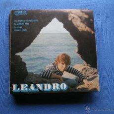 Discos de vinilo: LEANDRO - MI BARCA CONSTRUIRÉ / LA POBRE MÍA / LA MAR / ROSAS ROJAS - EP ORLANDO 1971. Lote 54811992