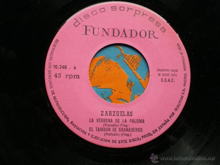 FUNDADOR EP ZARZUELAS 1972 VER FOTOS TITULOS (Música - Discos de Vinilo - EPs - Clásica, Ópera, Zarzuela y Marchas)