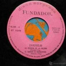 Discos de vinilo: FUNDADOR EP ZARZUELAS 1972 VER FOTOS TITULOS. Lote 49789629