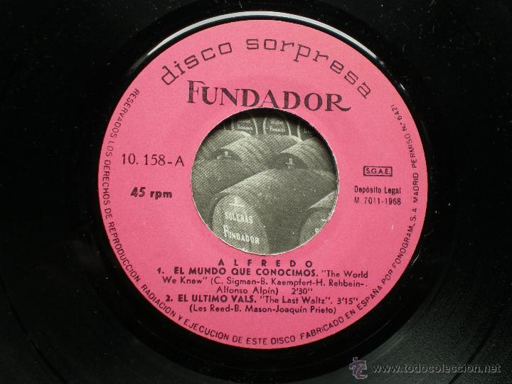FUNDADOR EP ALFREDO 1968 VER FOTOS TITULOS (Música - Discos de Vinilo - EPs - Solistas Españoles de los 70 a la actualidad)