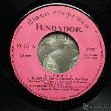 Discos de vinilo: FUNDADOR EP ALFREDO 1968 VER FOTOS TITULOS. Lote 49789785