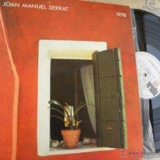 Discos de vinilo: JOAN MANUEL SERRAT 1978 -LP -BUEN ESTADO. Lote 49789816