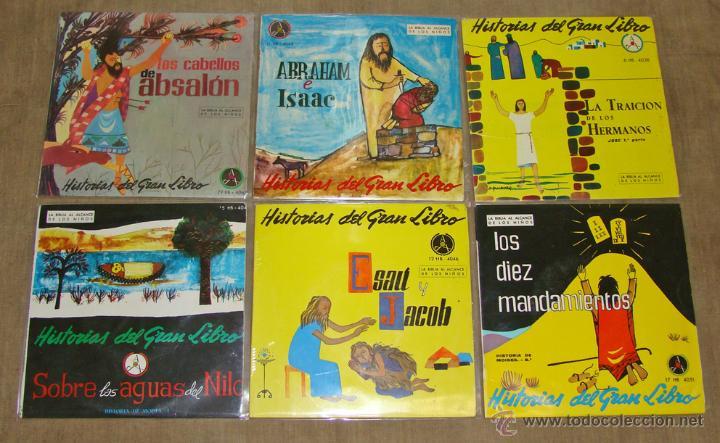 HISTORIAS DEL GRAN LIBRO - LA BIBLIA AL ALCANCE DE LOS NIÑOS - COLECCION COMPLETA DE 33 SINGLES (Música - Discos - Singles Vinilo - Otros estilos)