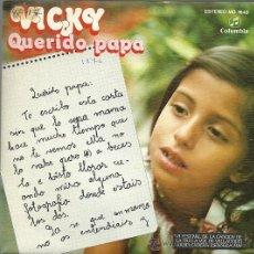Discos de vinilo: VICKY (DUO DINAMICO SINGLE SELLO COLUMBIA AÑO 1976 EDITADO EN ESPAÑA (PROMOCIONAL, ETIQUETA BLANCA) . Lote 49839999