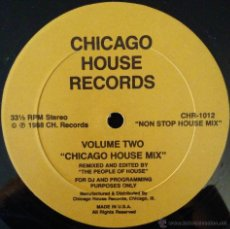 Discos de vinilo: THE PEOPLE OF THE HOUSE, CHICAGO HOUSE MIX VOLUME 2, LP. Lote 49840869