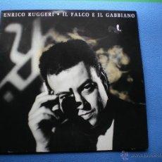 Discos de vinilo: ENRICO RUGGERI IL FALCO E IL GABBIANO LP ALEMANIA 1990 CON ENCARTE PDELUXE. Lote 49846610