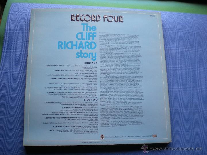 Discos de vinilo: CLIFF RICHARD THE CLIFF RICHARD STORY LP BOX (6LP) UK ( CON THE SHADOWS) PDELUXE - Foto 10 - 49847028