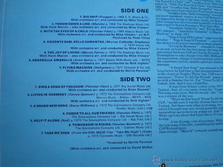 Discos de vinilo: CLIFF RICHARD THE CLIFF RICHARD STORY LP BOX (6LP) UK ( CON THE SHADOWS) PDELUXE - Foto 15 - 49847028