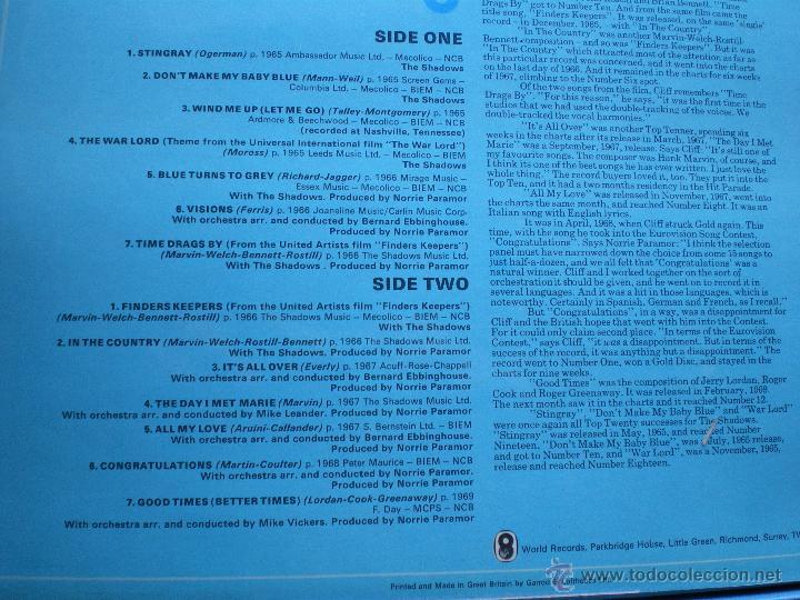 Discos de vinilo: CLIFF RICHARD THE CLIFF RICHARD STORY LP BOX (6LP) UK ( CON THE SHADOWS) PDELUXE - Foto 16 - 49847028