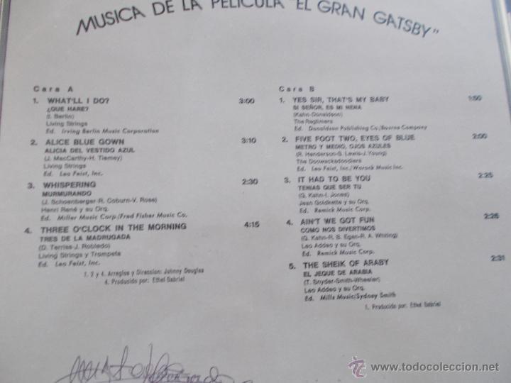 Discos de vinilo: THE GREAT GATSBY - Foto 4 - 49850379
