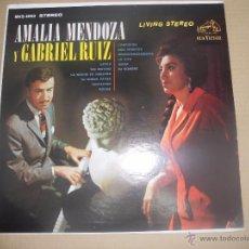 Discos de vinilo: AMALIA MENDOZA (LP) AMALIA MENDOZA Y GABRIEL RUIZ AÑO 1960'S - EDICION U.S.A.. Lote 49852561