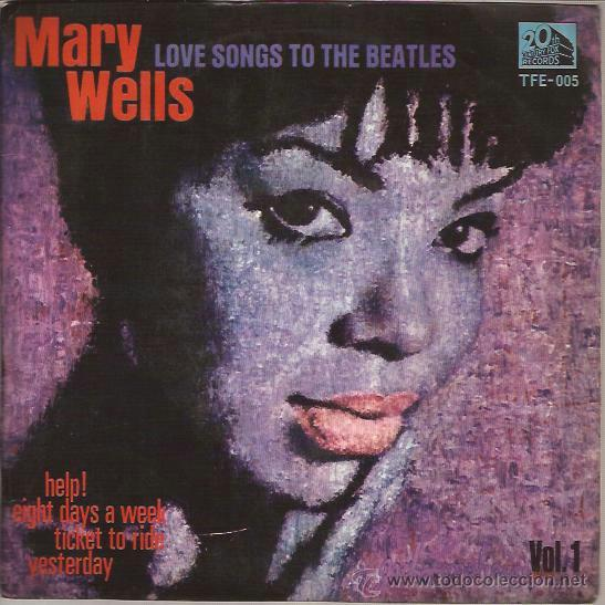 EP-MARY WELLS LOVE SONGS TO THE BEATLES VOL.1-TEMPO 005-SPAIN 1965 HELP TICKET TO RIDE (Música - Discos de Vinilo - EPs - Funk, Soul y Black Music)