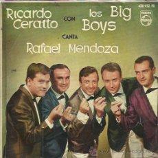 Discos de vinilo: RICARDO CERATTO Y LOS BIG BOYS EP PHILIPS 1963 ISLA DE AMOR/ BAHIA DE MALLORCA/ ALICANTE +1. Lote 49860739
