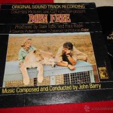 Discos de vinilo: BORN FREE NACIDO LIBRE OST BSO JOHN BARRY LP MGM EDICION AMERICANA USA. Lote 49868846