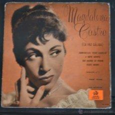 Discos de vinilo: MAGDALENA CASTRO. EP. GORRIONCILLO, PECHO AMARILLO + 3. ODEON 1958. LITERACOMIC.. Lote 49876135