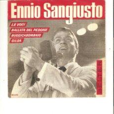 Discos de vinilo: ENNIO SANGIUSTO LE VOCI BELTER 1963. Lote 49879446