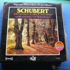 Discos de vinilo: SCHUBERT - MUSICA DE BALLET DE ROSAMUNDA - LP YUPY DE 1971 PEPETO. Lote 49880550