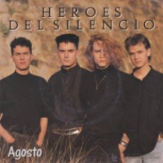Discos de vinilo: HÉROES DEL SILENCIO - AGOSTO - ORIGINAL 1988. Lote 49881152