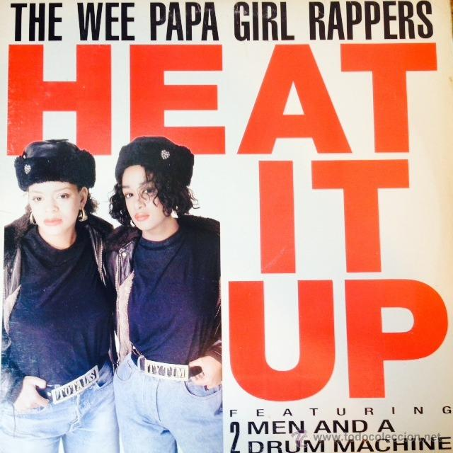 WEE PAPA GIRL RAPPERS - HEAT IT UP . MAXI SINGLE . 1988 JIVE USA (Música - Discos de Vinilo - Maxi Singles - Rap / Hip Hop)