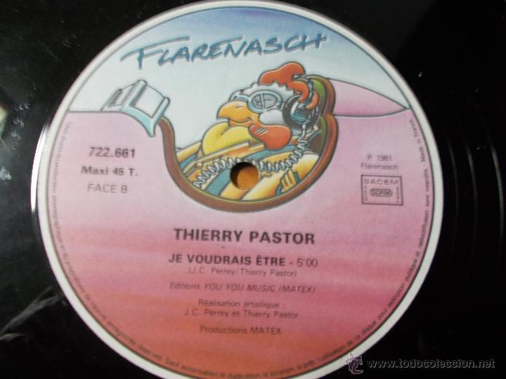 Discos de vinilo: THIERRY PASTOR. JE VOUDRAIS ETRE - Foto 2 - 49896815