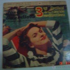 Discos de vinilo: JOSE GUARDIOLA.- III. FESTIVAL DE LA CANCIÓN MEDITERRANEA, BARCELONA 1961. Lote 49898094