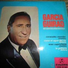 Discos de vinilo: GARCIA GUIRAO - CARACOLES MAMBO EP - ORIGINAL ESPAÑOL - COLUMBIA RECORDS 1966 - MONO - MUY NUEVO (5). Lote 49902605