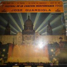 Discos de vinilo: JOSE GUARDIOLA - XIPNA AGHAPI MOU EP - ORIGINAL ESPAÑOL - LA VOZ DE SU AMO 1960 - VINILO AZUL - MONO. Lote 49903031