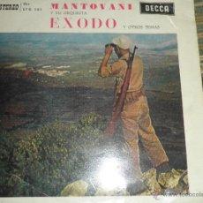 Discos de vinilo: MANTOVANI Y SU ORQUESTA - EXODO EP - ORIGINAL ESPAÑOL - DECCA RECORDS 1966 - ESTEREO -. Lote 49904959