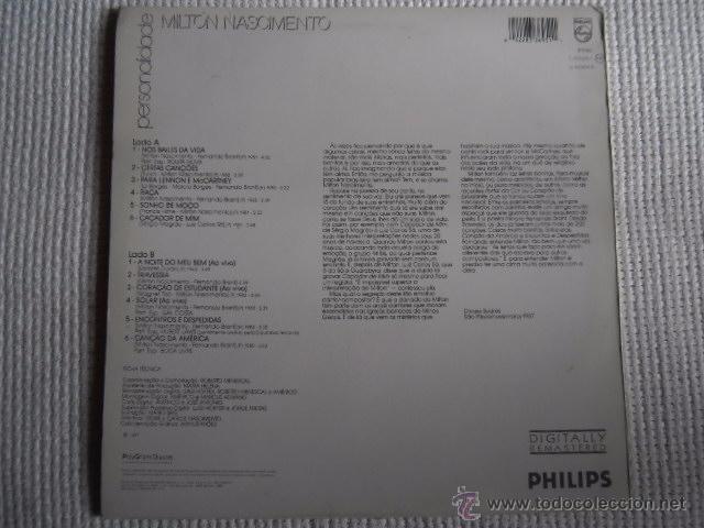 Discos de vinilo: MILTON NASCIMENTO - PERSONALIDADE LP SPAIN 1988 - Foto 2 - 49913397
