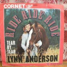 Discos de vinilo: LYNN ANDERSON - RIDE RIDE RIDE / CORNET (ALEMANIA). Lote 49919657