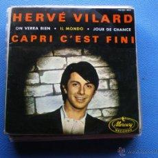 Discos de vinilo: HERVE VILARD CAPRI CÉST FINI+3 EP 1965 PDELUXE. Lote 49926586