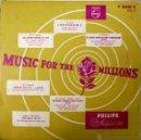 Discos de vinilo: LISZT, MOZART, WAGNER, HÄNDEL. MUSIC FOR THE MILLIONS. PHILIPS P 10048 R, HOLLAND ( LP 10'). Lote 49929335