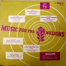 Discos de vinilo: LISZT, MOZART, WAGNER, HÄNDEL. MUSIC FOR THE MILLIONS. PHILIPS P 10048 R, HOLLAND ( LP 10'). Lote 49929335