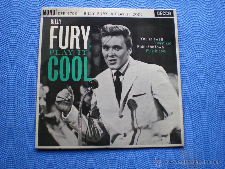 BILLY FURY PLAY IT OOL+3 EP UK 1962 PDELUXE (Música - Discos de Vinilo - EPs - Pop - Rock Internacional de los 50 y 60	)
