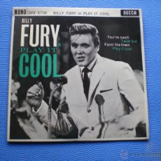 Discos de vinilo: BILLY FURY PLAY IT OOL+3 EP UK 1962 PDELUXE. Lote 49936076