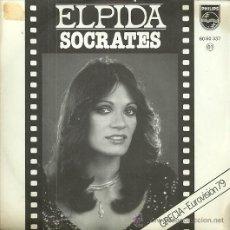Discos de vinilo: ELPIDA SINGLE SELLO PHILIPS AÑO 1979 EDITADO EN ESPAÑA, FESTIVAL EUROVISION GRECIA. Lote 49936203
